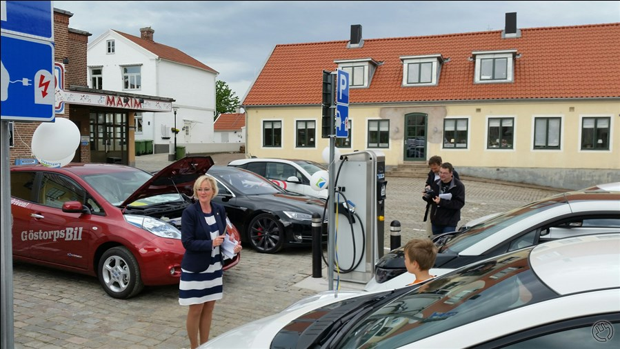 Invigning av laddstation 6/6-2015