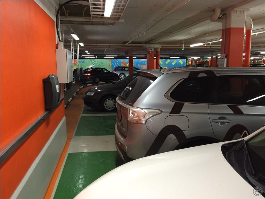 Tesla laddare mall of scandinavia
